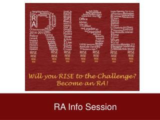 RA Info Session