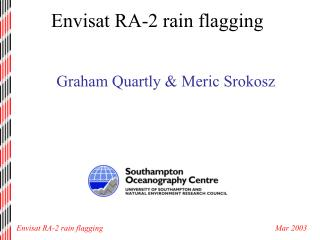 Envisat RA-2 rain flagging