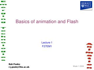 Basics of animation and Flash