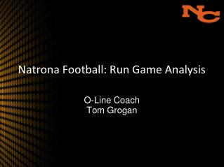 Natrona Football: Run Game Analysis