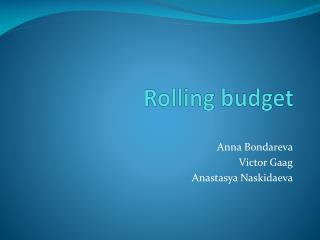 Rolling budget