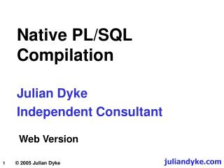 Native PL/SQL  Compilation