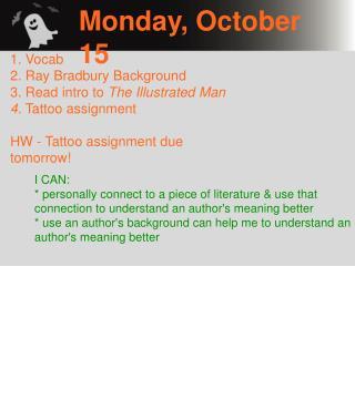 Monday, October 15