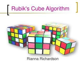 Rubik's Cube Algorithm