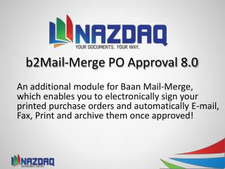 b2Mail-Merge PO Approval 8.0