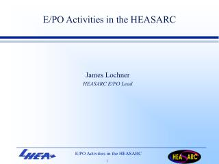 E/PO Activities in the HEASARC