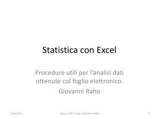 Statistica con Excel