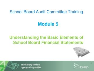 School Board Audit Committee Training Module 5