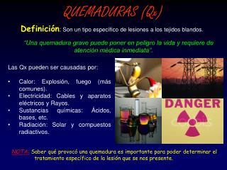 QUEMADURAS (Qx)