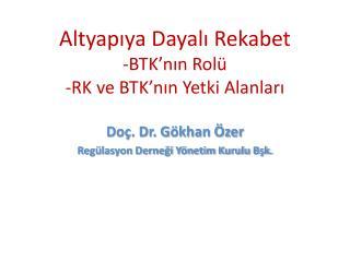 Altyapıya Dayalı Rekabet -BTK'nın Rolü -RK ve BTK'nın Yetki Alanları