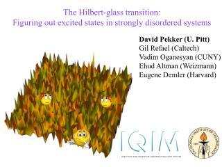 David Pekker (U. Pitt) Gil Refael (Caltech) Vadim Oganesyan (CUNY) Ehud Altman (Weizmann)