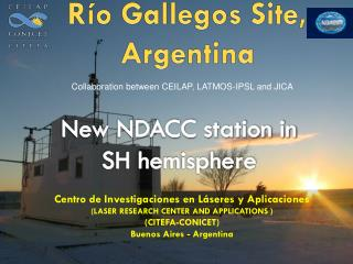 New NDACC station in  SH hemisphere