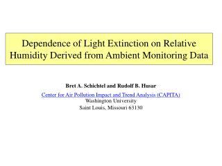 Dependence of Light Extinction on Relative Humidity Derived from Ambient Monitoring Data