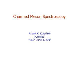 Charmed Meson Spectroscopy