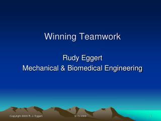 Winning Teamwork
