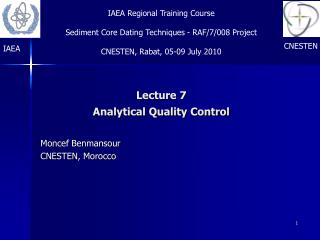 Lecture 7 Analytical Quality Control