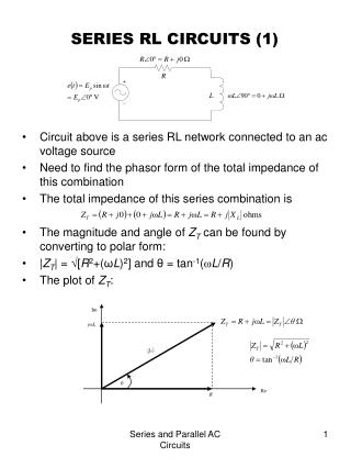SERIES RL CIRCUITS (1)