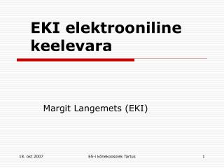 EKI elektrooniline keelevara