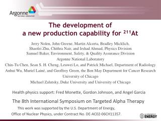 The development of  a new production capability for  211 At