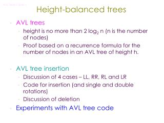 Height-balanced trees