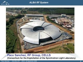 Paco Sanchez, RF Group, CELLS
