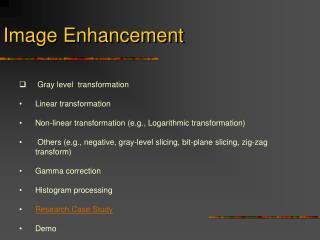 Image Enhancement