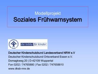 Modellprojekt Soziales Fr hwarnsystem
