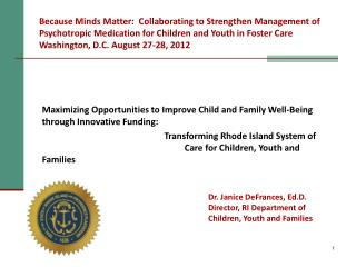 Maximizing Opportunities to Improve Child and Family Well-Being through Innovative Funding: