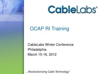 OCAP RI Training
