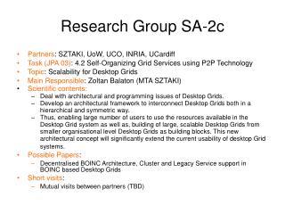 Research Group SA-2c