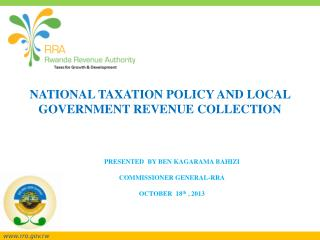 NATIONAL TAXATION POLICY AND LOCAL GOVERNMENT REVENUE COLLECTION