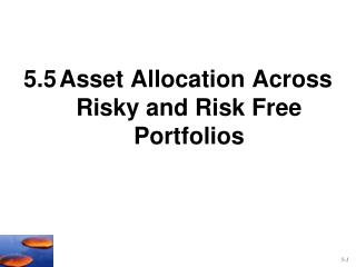 5.5	Asset Allocation Across Risky and Risk Free Portfolios