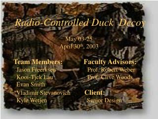 Radio-Controlled Duck  Decoy