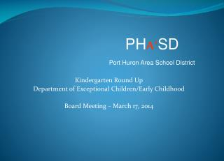 Kindergarten Round Up Department of Exceptional Children/Early Childhood