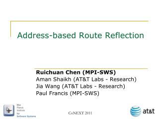 Address-based Route Reflection