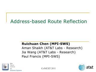 Address-based Route Reflection