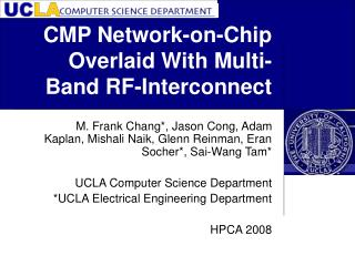 CMP Network-on-Chip Overlaid With Multi-Band RF-Interconnect