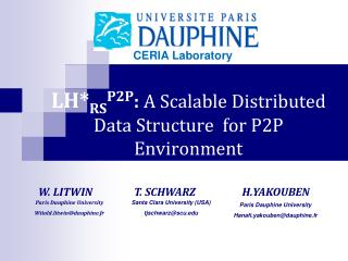 LH* RS P2P :  A Scalable Distributed Data Structure  for P2P Environment