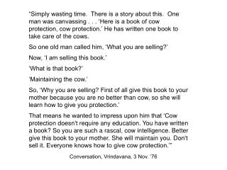 Conversation, Vrindavana, 3 Nov. '76