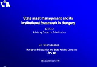 State asset management and its institutional framework in Hungary