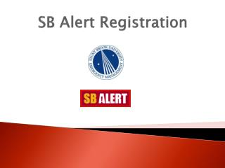 SB Alert Registration