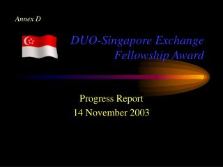 DUO-Singapore Exchange Fellowship Award
