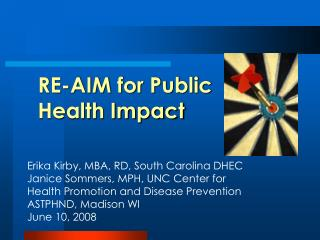 RE-AIM for Public Health Impact