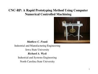 CNC-RP: A Rapid Prototyping Method Using Computer Numerical Controlled Machining