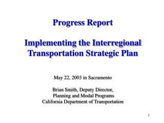 Interregional Transportation Strategic Plan