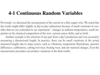 4-1 Continuous Random Variables