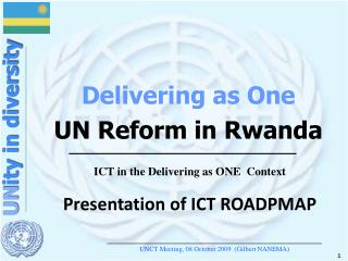 Delivering as One UN Reform in Rwanda