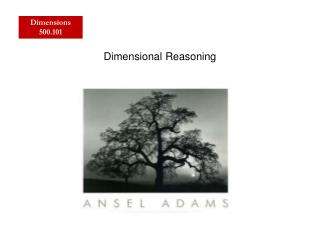 Dimensional Reasoning