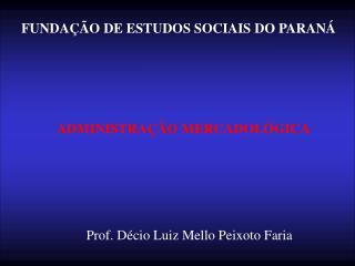 FUNDA  O DE ESTUDOS SOCIAIS DO PARAN