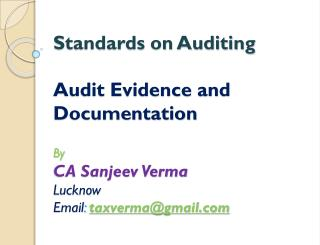 About Standards on Auditing